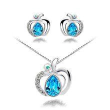 G164 sweet apple náušnice a náhrdelník ženy módní šperky sady (Čína (pevninská část))