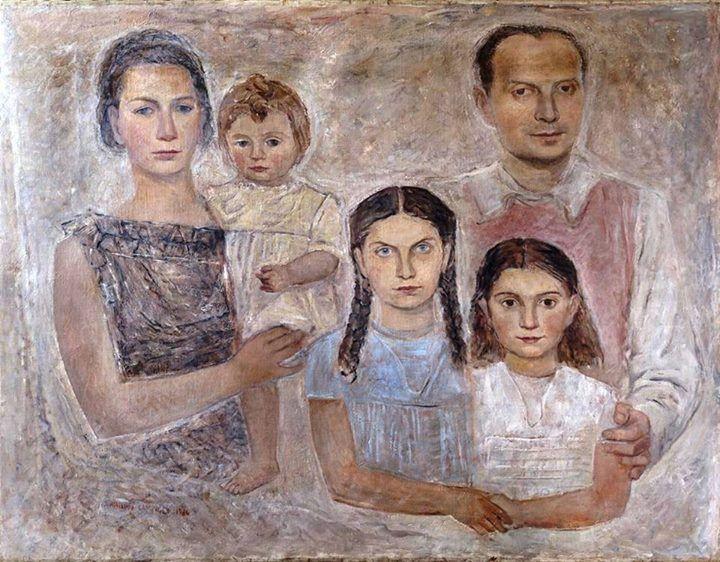 Massimo Campigli - La famiglia dell'architetto Gio Ponti, 1934