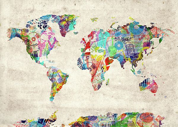 99 best world map images on pinterest digital art world maps and world map inspired by decorativepop artvintage art design gumiabroncs Choice Image