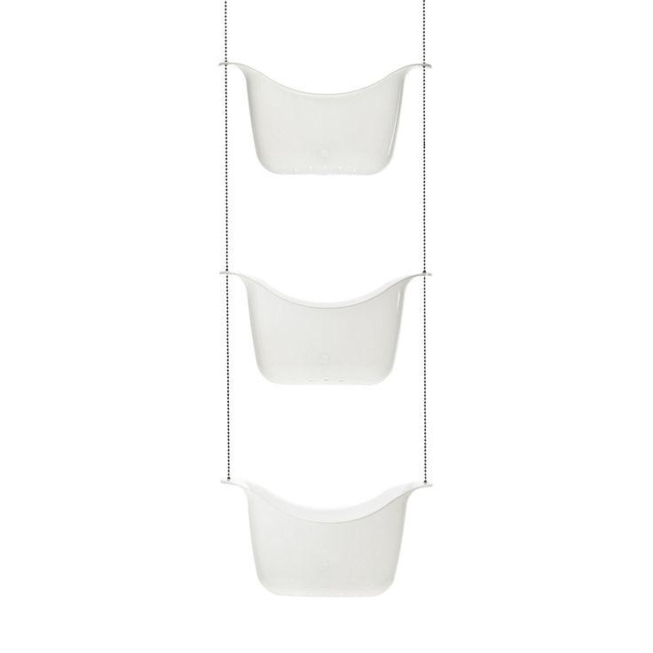 Bask+valkoinen+suihkutelinesaippua+teline+kylpyhuoneeseen