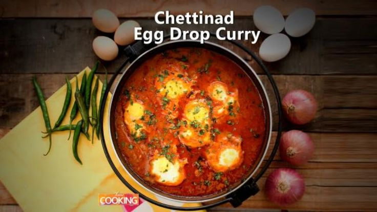 Chettinad Egg Drop Curry Ingredients  Egg - 6 nos Gingelly oil/Sesame oil - 2 Tbsp Bay leaf Cardamom Clove Cinnamon  Onion - 2 nos finely chopped Green chili - 2 nos Few Curry leaves  Tomato - 2 nos chopped Turmeric powder - 1/2 tsp Chili powder - 1 tsp Coriander powder - 2 tsp Salt to taste Water   For Masala Paste Oil - 1 tsp  Fennel seeds - 1 tsp Poppy seeds/Khus khus - 1/2 tsp Roasted Chana Dal - 1 Tbsp Red chili - 8 nos Grated Coconut - 1/2 cup Piece of Ginger Ga...