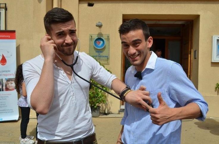 Gianluca Bezzina with Kurt Calleja: Eurovision