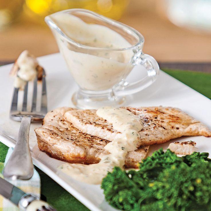 Escalopes de porc, sauce moutarde et fines herbes - Soupers de semaine - Recettes 5-15 - Recettes express 5/15 - Pratico Pratique