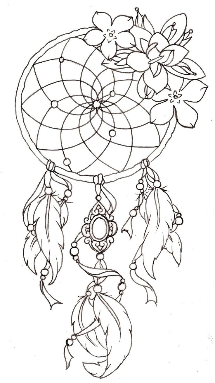 Nice dream catcher tattoo! Could really personalize this - add fav flowers, colours, something in the cameo :)