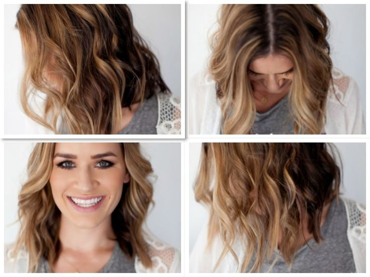 wavy hair tutorial long bob short hair curls Hair tutorial bridal hair tu