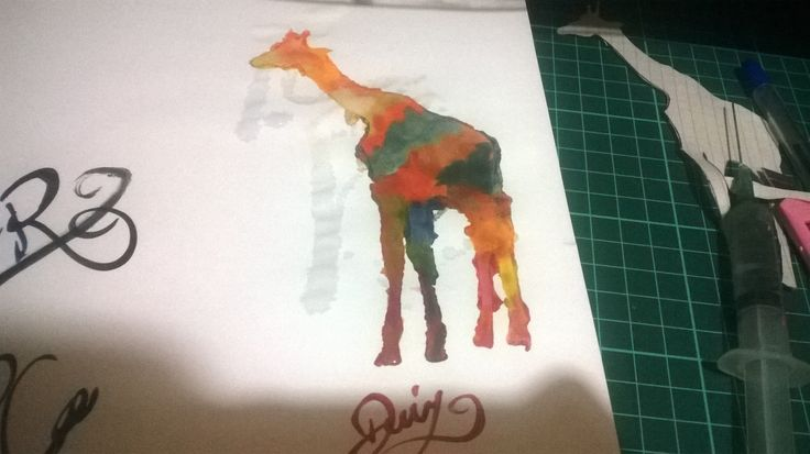 Watercolor , giraffe