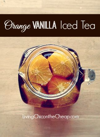 """**ORANGE VANILLA ICED TEA recipe** I had this tea at a Fancy Atlanta restaurant last year and after several attempts to recreate """"the magic"""" I think I finally came close. :) #recipes #sweettea"""