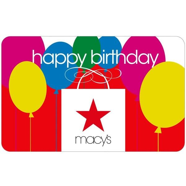 Happy Birthday Macys Bag E Gift Card 14 NZD Liked On Polyvore