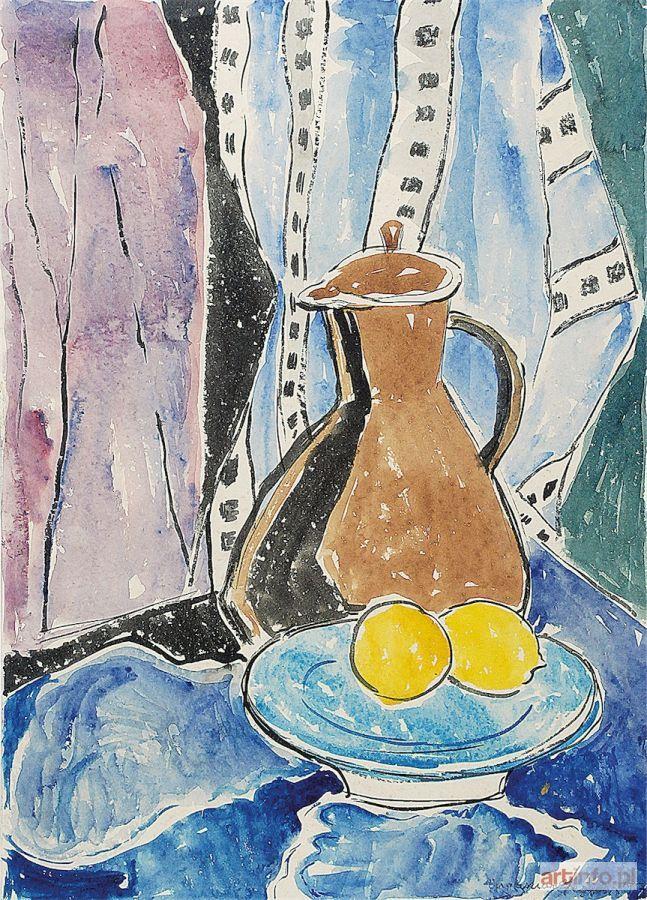 Eugeniusz GEPPERT ● Martwa natura z dzbanem i cytrynami, 1957