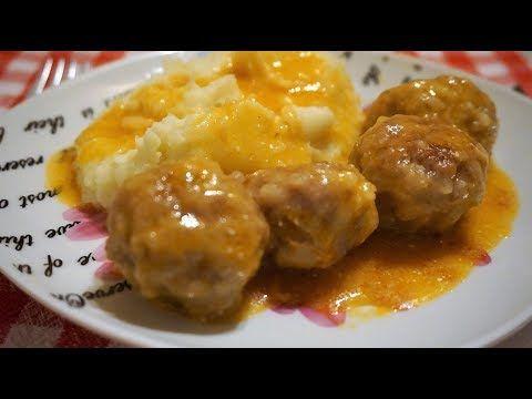 ТЕФТЕЛИ ЁЖИКИ с рисом на сковороде с соусом/Meatballs in sauce - YouTube
