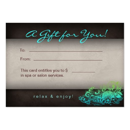 25 best Gift Certificates images on Pinterest Gift certificate - gift card template