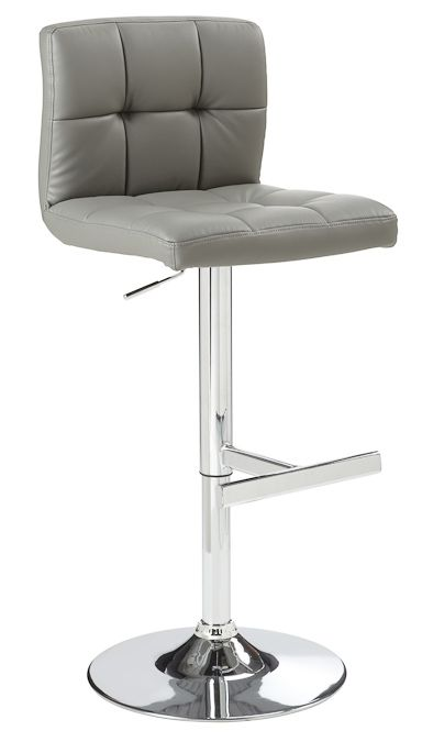 Add A Touch Of Modern Style To Your Breakfast Bar With This Gray Adjustable Barstool By Sunpan An Lever Contemporary