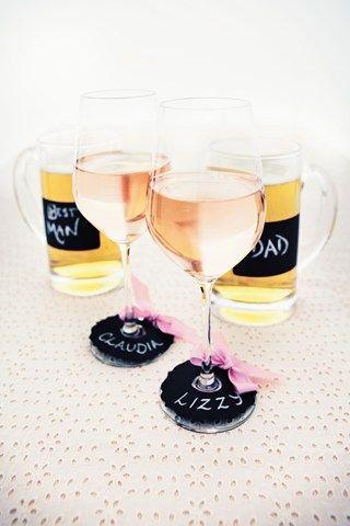 DIY Wedding Drink Markers (BridesMagazine.co.uk)