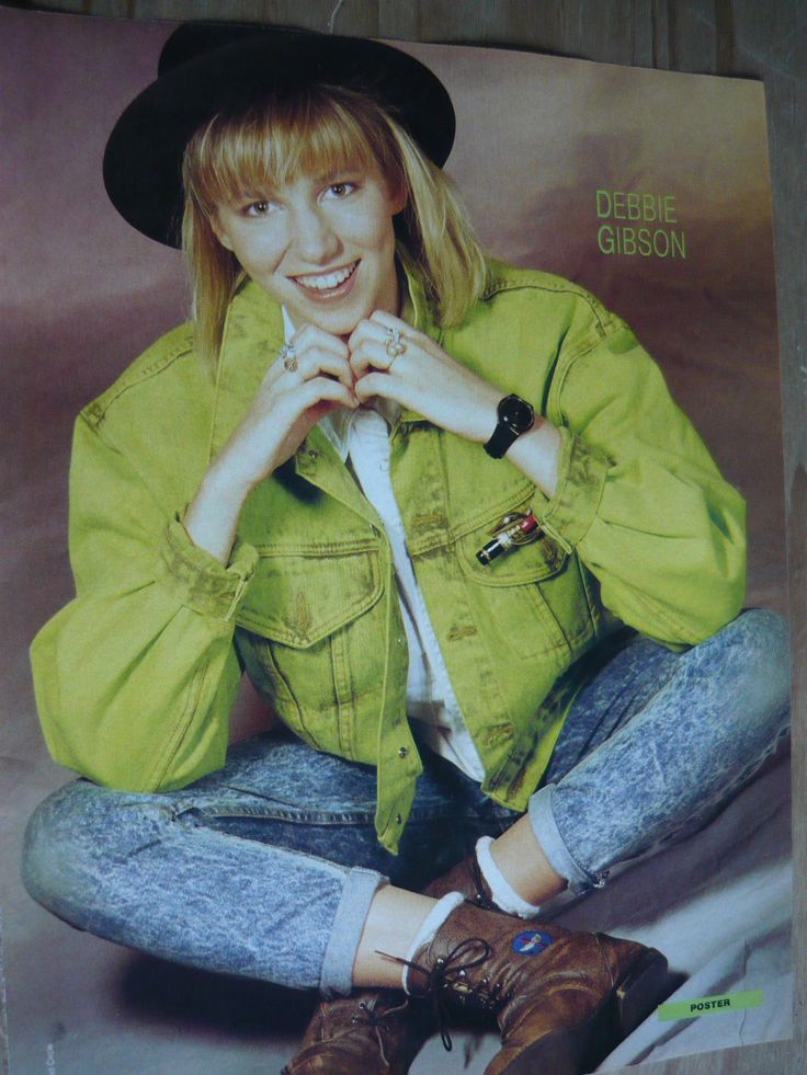 Debbie Gibson 80's Magazine Cutting Full Page Photo Ref TE | eBay