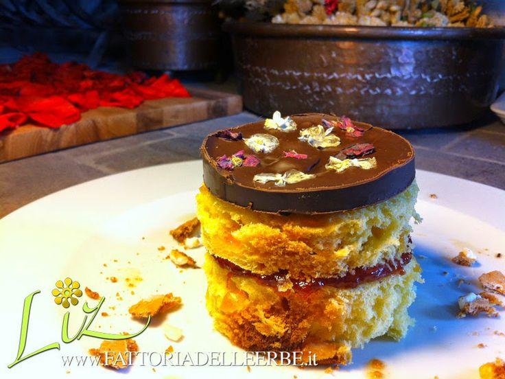 SWEET SANDWICH CON FOCACCIA, CIOCCOLATO E FIORI DI #BEGONIA - Sweet Sandwich with chocolate and #Begonia