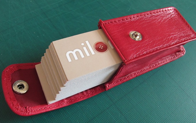 Red Leather Business Card Holder from moo.com