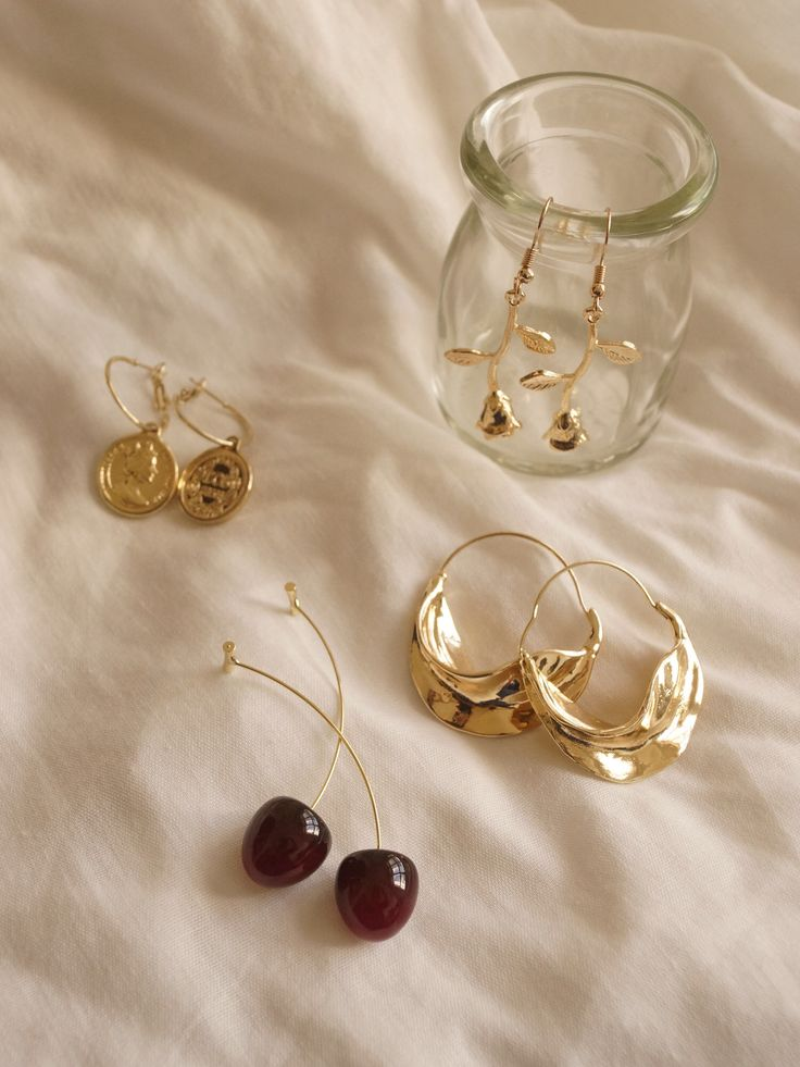 Cherry earrings : Shop online : Gabi-Label.com