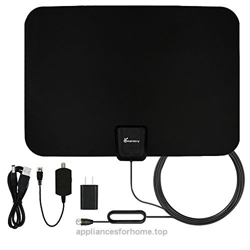 TV Antenna, Vansky Indoor Amplified HDTV Antenna 50 Mile Range with Detachable Amplifier Signal Booster, USB PowerSupply and 16.5FT High Performance Coax Cable – Upgraded Version Better Reception  Check It Out Now     $89.99     Vansky Indoor Amplified TV Antenna 50 Miles   Cut the cable and get access to FREE HD programs forever including local news, weather forecast and sitcoms,k ..  http://www.appliancesforhome.top/2017/04/15/tv-antenna-vansky-indoor-amplified-hdtv-antenna-5..
