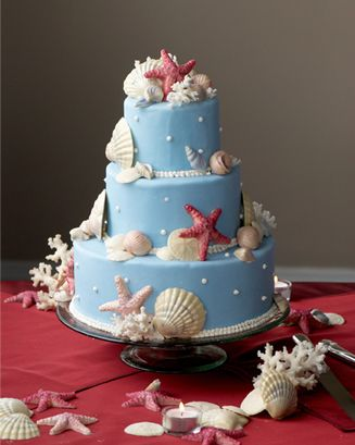 Gorgeous ocean theme cake - not Drue's style but beautiful nonetheless