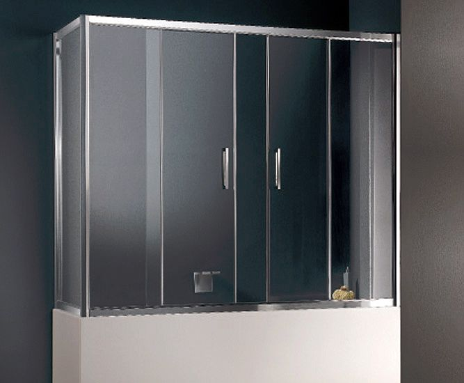 Comprehensive shower door system to fit a bath - best of both worlds!