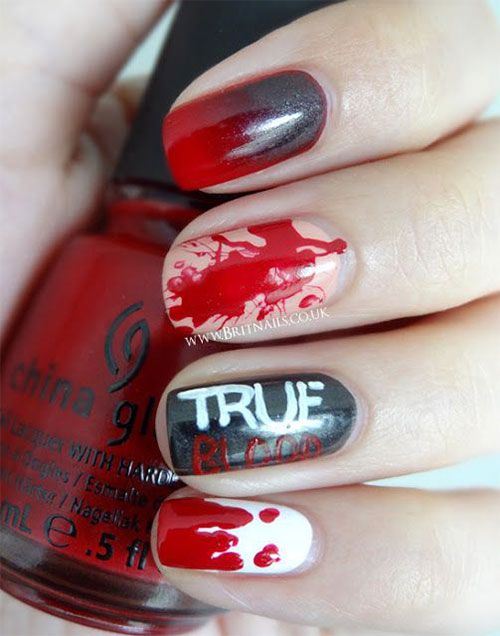 33 best halloween blood nail art designs images on pinterest 16 fantastic spooky halloween nail art inspirations that you should try prinsesfo Choice Image