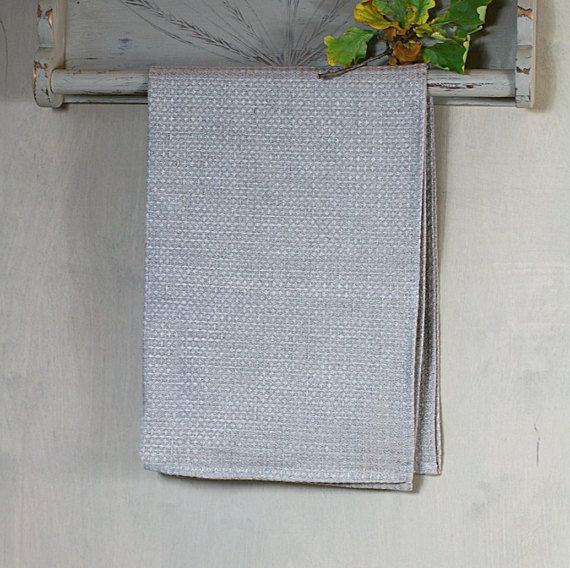 Grey waffle Towel set of 2 face bath towel by ALiusyDecor on Etsy