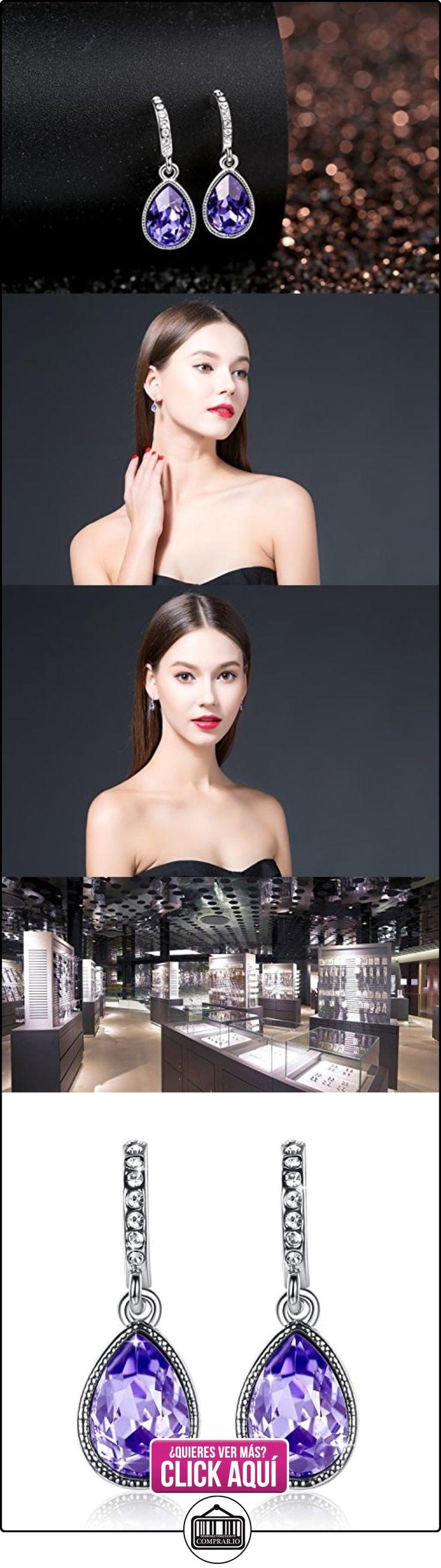 GoSparking púrpura violeta cristal del oro blanco 18K plateó la aleación Pendientes de cristal austriaco para las mujeres  ✿ Joyas para mujer - Las mejores ofertas ✿ ▬► Ver oferta: https://comprar.io/goto/B0096J346S