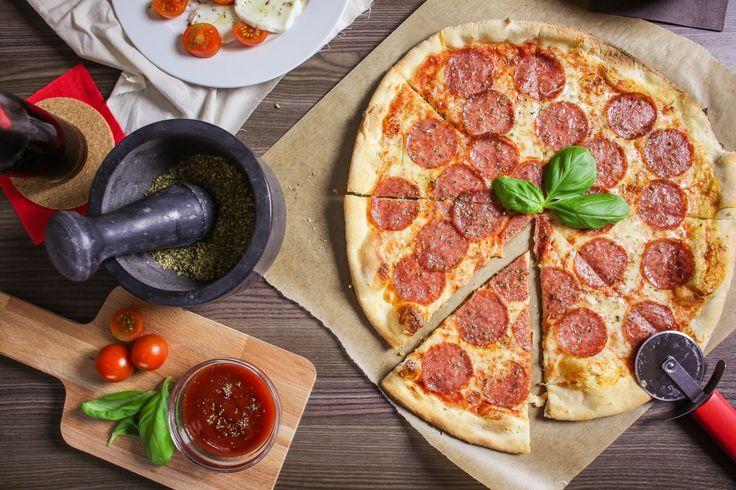 Free Image: Preparing Salami Pizza | Download more on picjumbo.com!