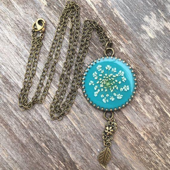 Collana Boho regalo per fidanzata botanica gioielli collana