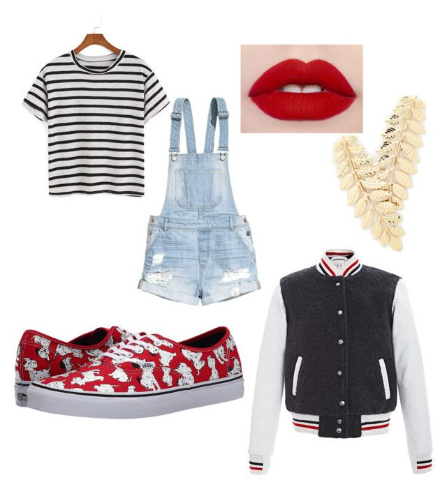 """""""100 Dalmatians"""" by cupcakecutie286 ❤ liked on Polyvore featuring H&M, Vans and Thom Browne"""