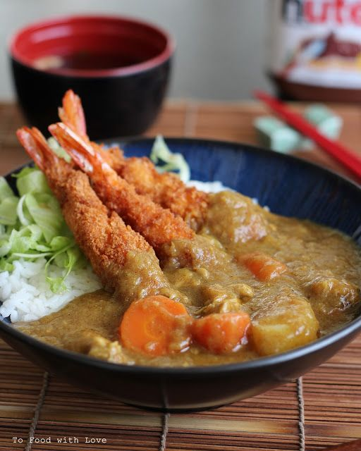 To Food with Love: Ebi Fry Curry Don (Fried Shrimp with Curry on Rice)