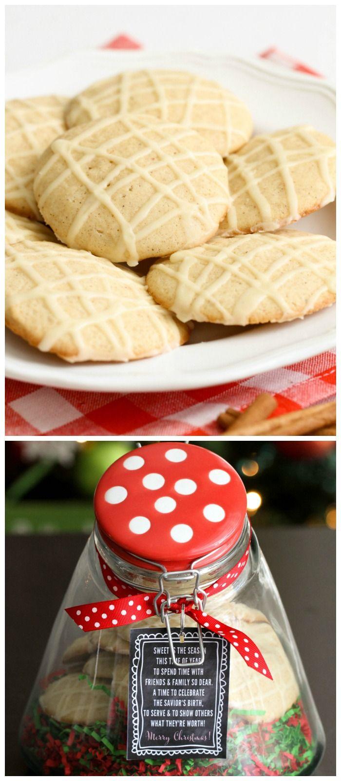 Delicious Egg Nog Cookies + Gift Idea with free tag { lilluna.com }