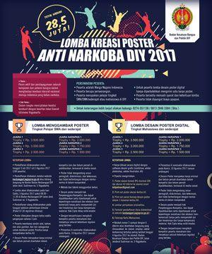 #Lomba #Desain #Poster #AntiNarkoba #Kesbangpol #DIY #Yogyakarta Lomba Desain Poster Anti Narkoba DIY 2017 Berhadiah Total 28,5 Juta Rupiah  LOMBA: 5 Agustus 2017  http://infosayembara.com/info-lomba.php?judul=lomba-desain-poster-anti-narkoba-diy-2017-berhadiah-total-285-juta-rupiah