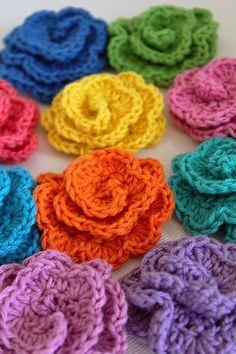 Svarta Fåret : Virkade blommor i Tilda | crochet a flower in tilda yarn
