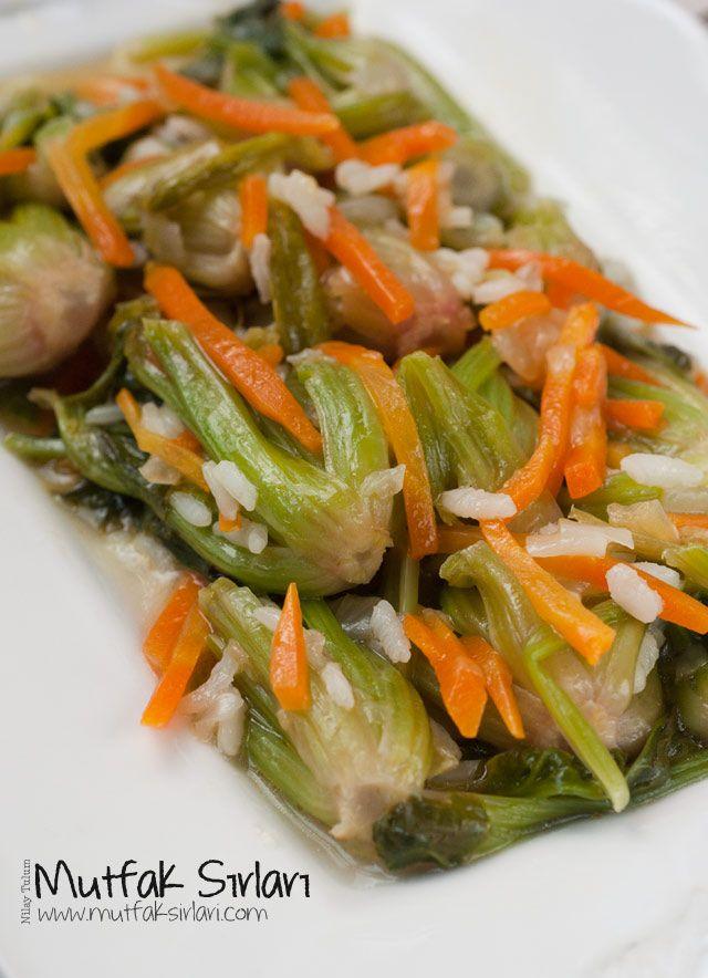 Zeytinyağlı Ispanak Kökü yemeği