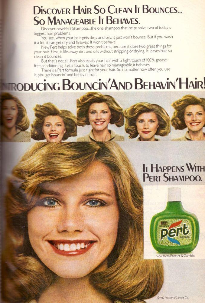 1980 Pert Shampoo Pretty Girl Lady Retro Print Advertisement Ad Vintage VTG 80s #Pert