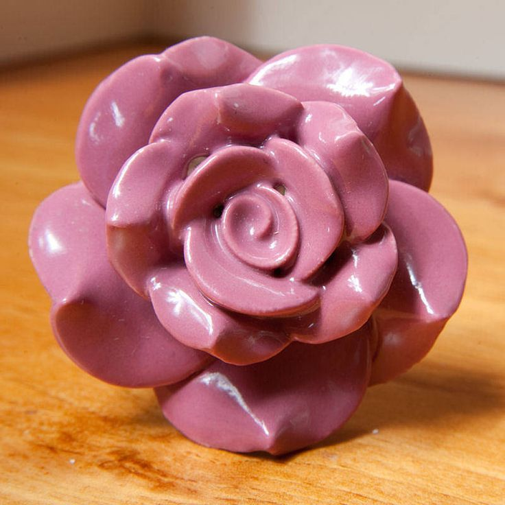 Vintage Rose Ceramic Drawer Knob