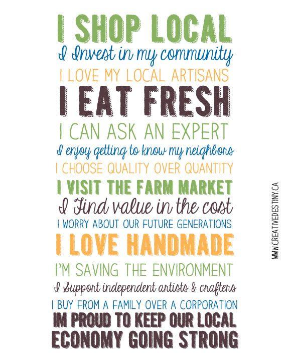 I Shop Local *Free Printable* | A Creative Destiny