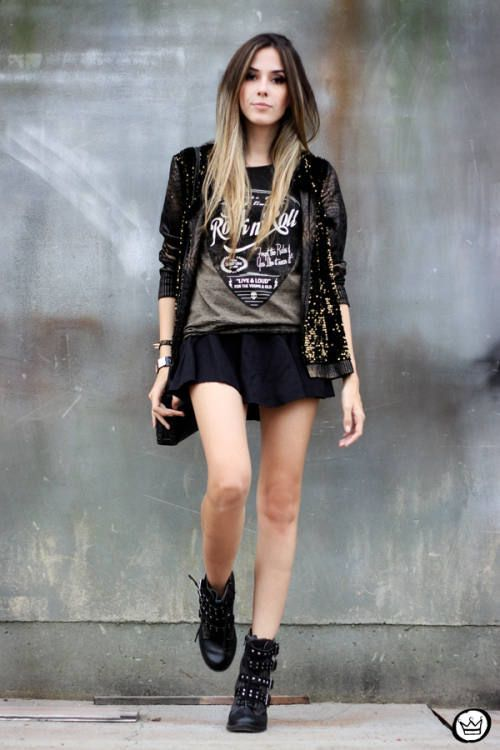 Rock N Roll style never looked so good! Fashion Outfit Rocker Lookbook  StreetStyle