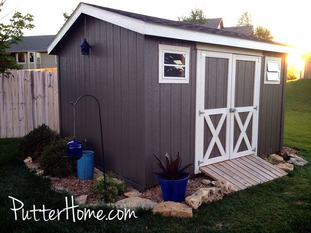 Garden Sheds Painted best 20+ shed landscaping ideas on pinterest | backyard storage