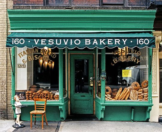 Vesuvio Bakery, NYC...Bakery no longer exists, but the storefront was kept for historic purposes. Love that