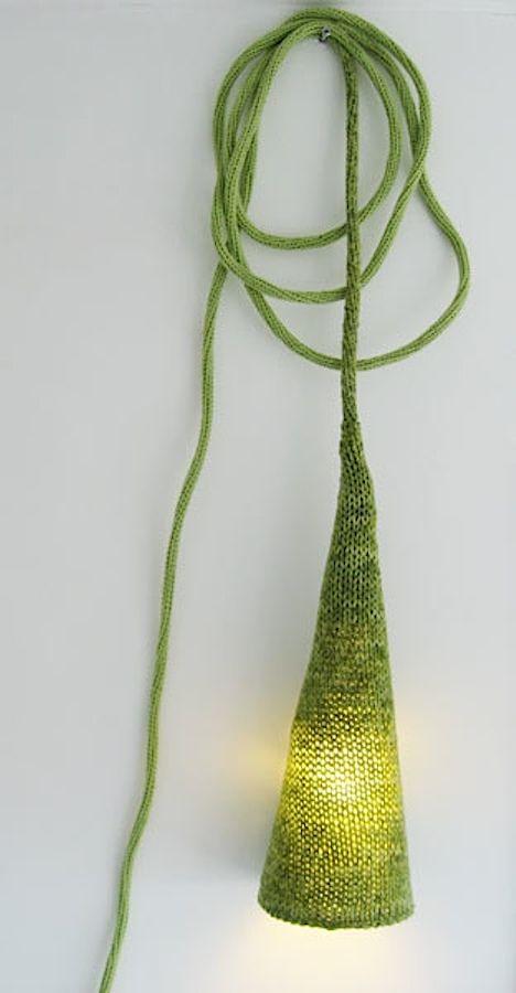 Oh, wat zou ik deze graag aan mijn bed hebben hangen... - Woolmar'k Lamp by Philippe Tiberghien
