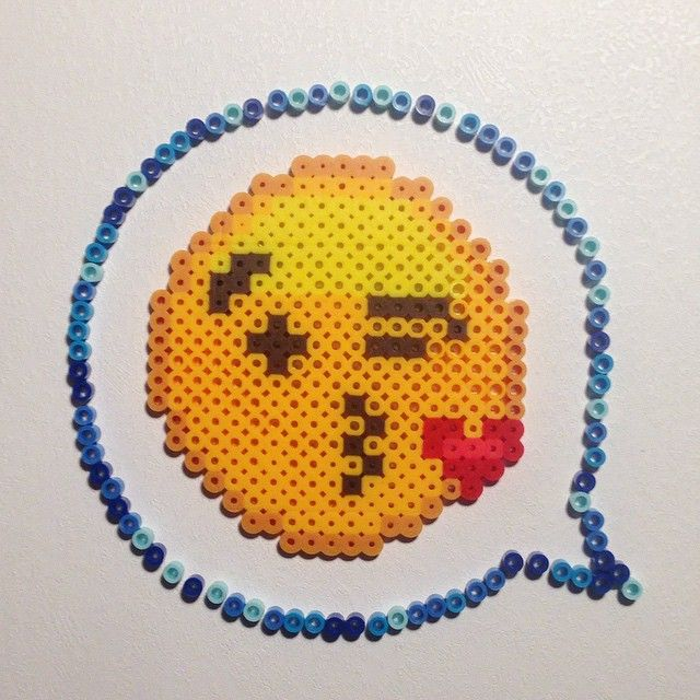 Emoji perler beads by down_is_the_new_up