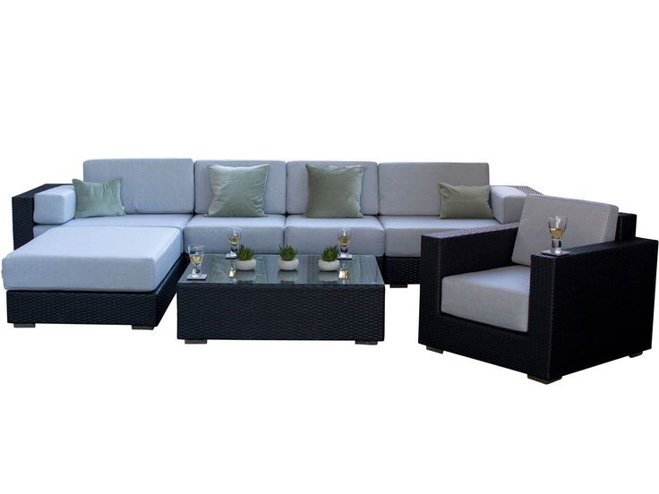 Ideal Siena Black Rattan Garden Sofa Set from Alexander Francis Garden Furniture