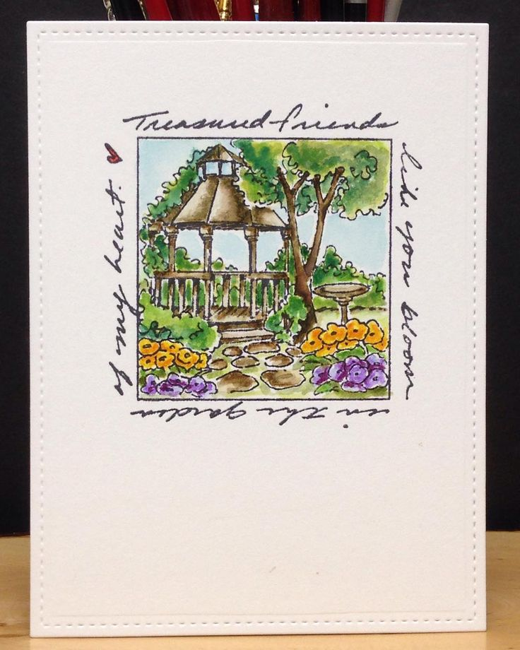 Rubber Stamp Card Making Ideas Part - 50: Art Impressions Rubber Stamps: Gazebo Window (Sku #M3174): Window To The ·  Watercolor IdeasWatercolor CardsArt ...