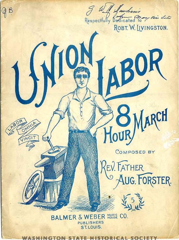 Union labor: eight hour march