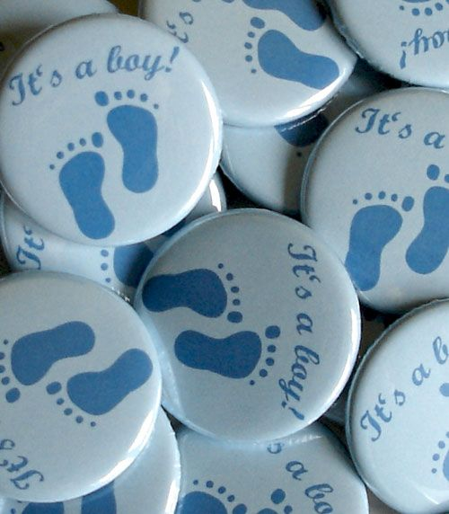 """""""It's a boy!""""-Button   Buttons   Accessoires   Babyparty   Baby Belly Party"""