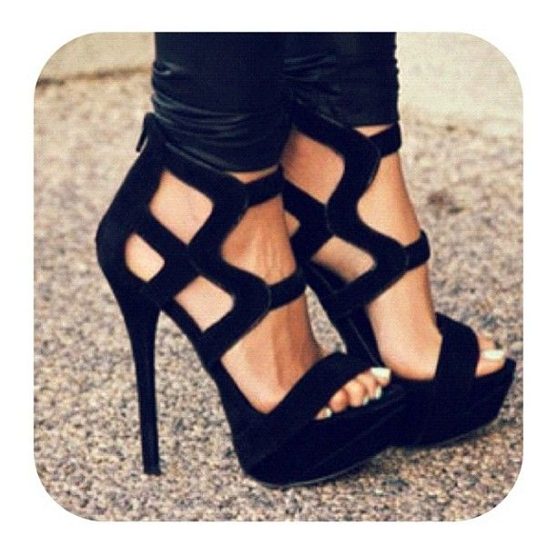 Gorgeous!!!: Hot Shoes, Fashion Shoes, Style, Highheel, Black Shoes, Black Heels, Sandals, Black High Heels, Very Black