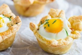 Hartige mini taartjes met ei