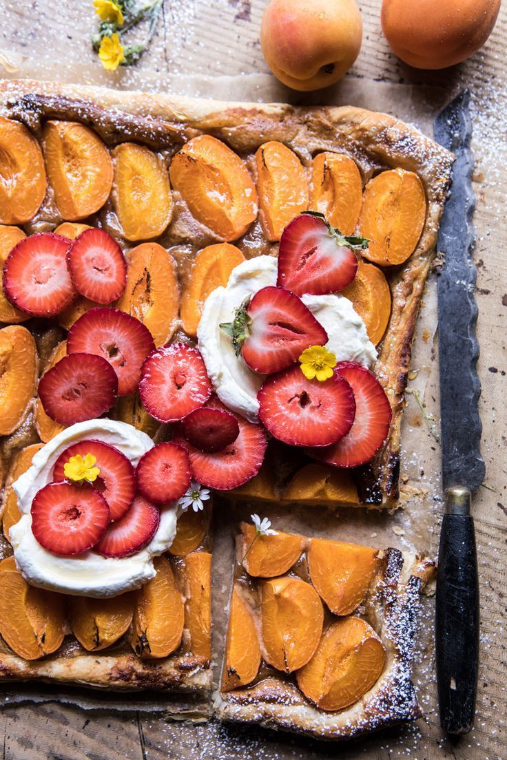 Honey Strawberry Apricot Tart